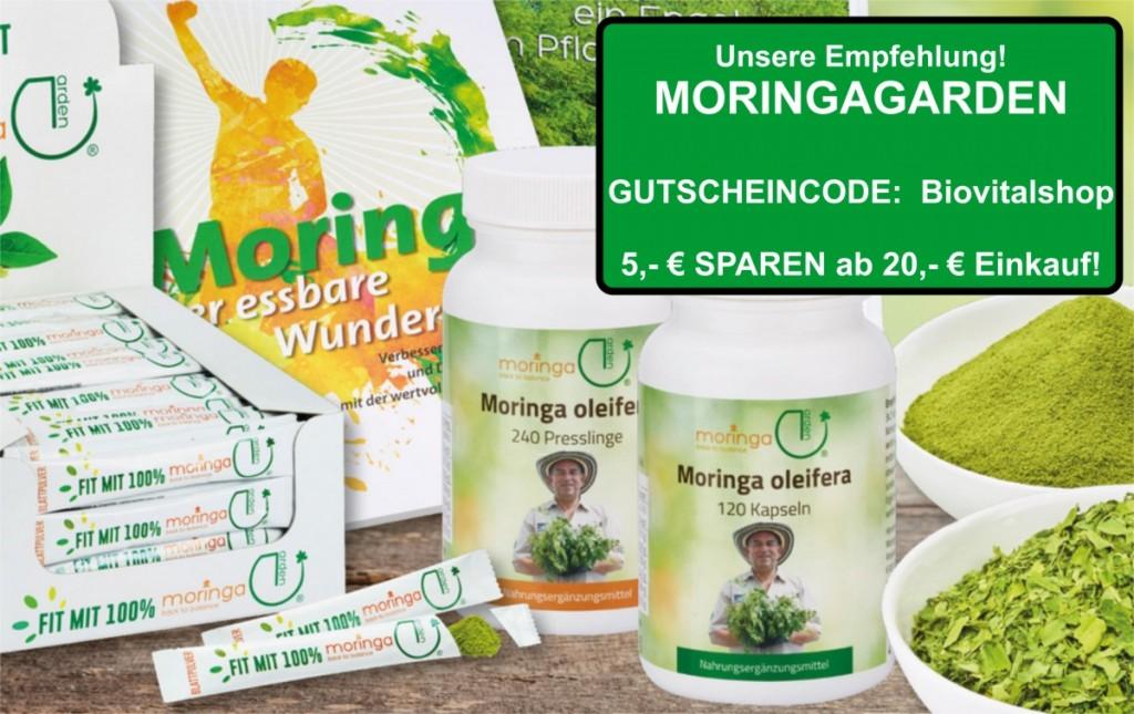 Beste Moringa Produkte im MoringaGarden kaufen und 5,- € sparen